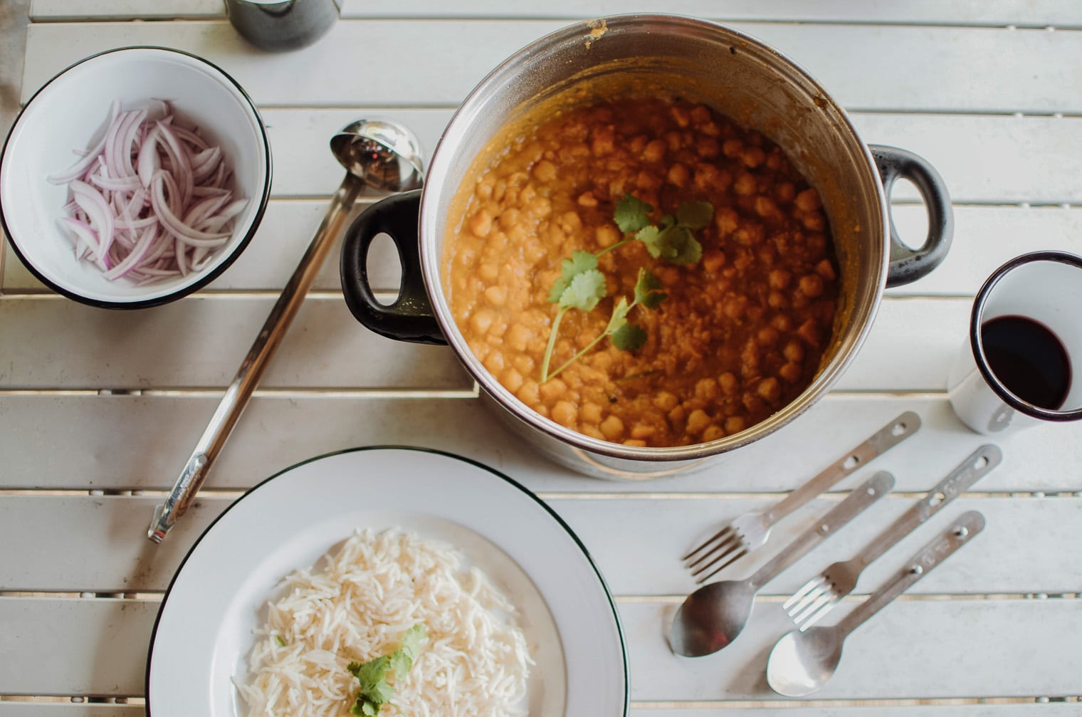 Sweet Potato Chana Masala recipe
