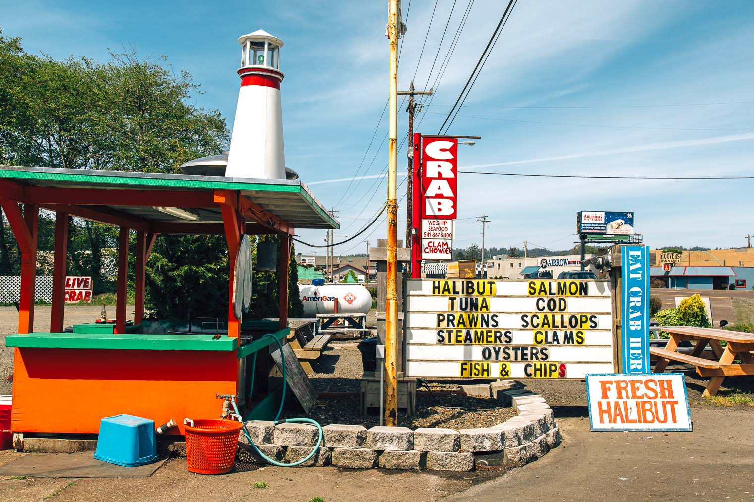 Fish market in Newport, Oregon
