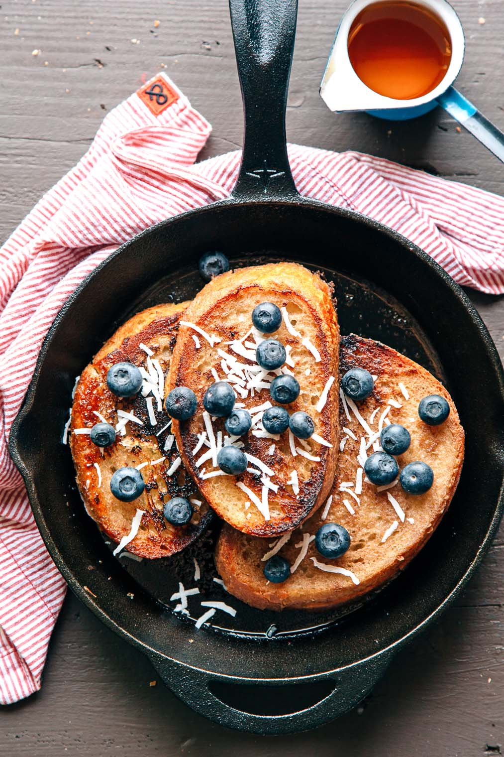 Make this vegan French toast on your next campout. It's an easy breakfast everyone will enjoy!
