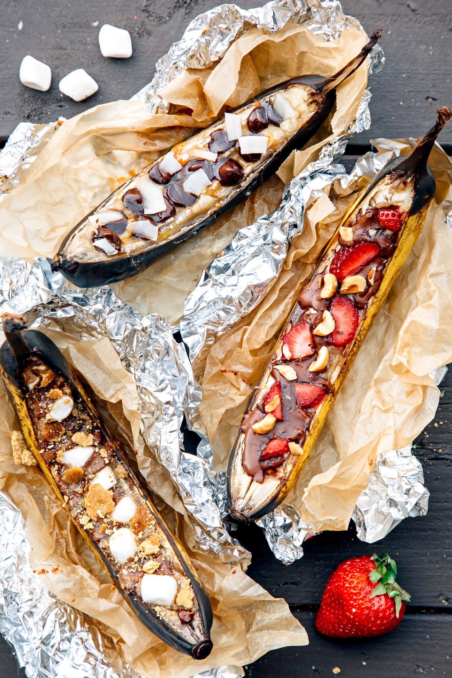 Campfire banana boats are an easy camping dessert to make for a crowd!