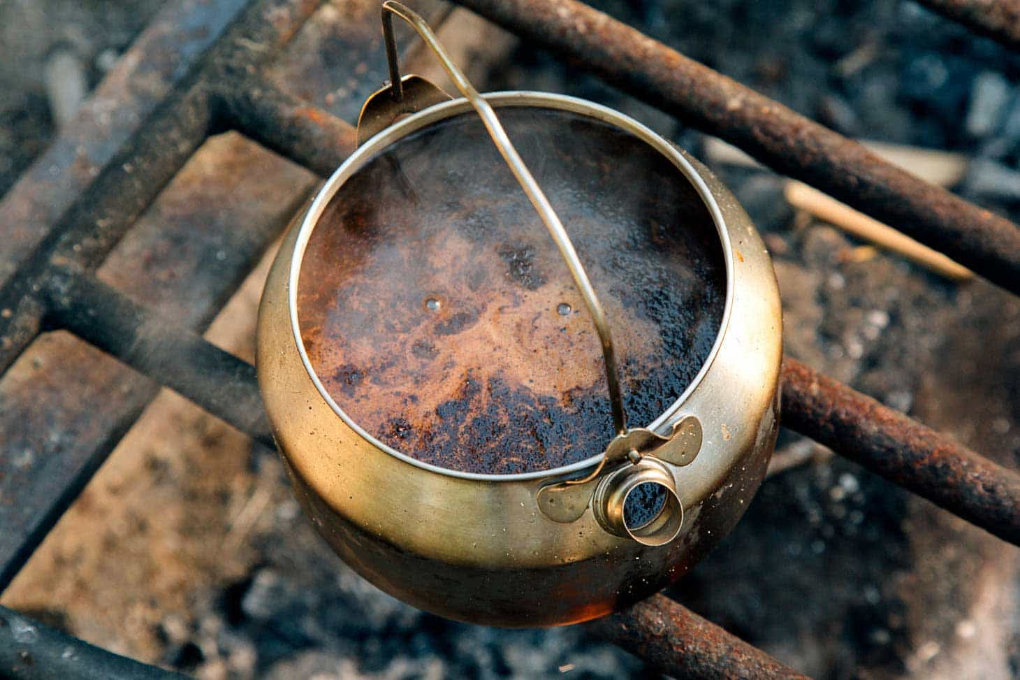 Coffee While Camping - How to Make Cowboy Coffee