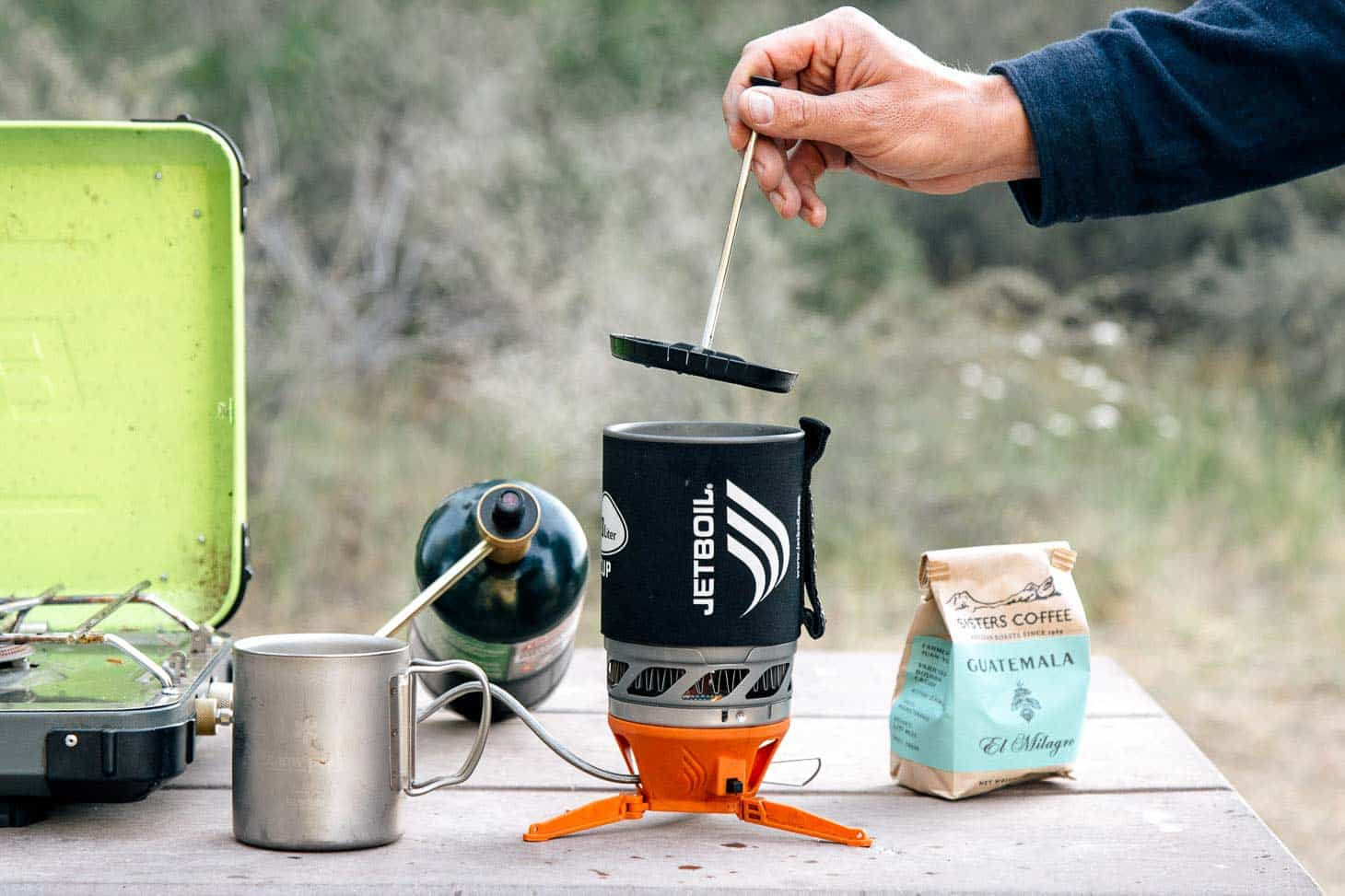 Jet Boilcamping Coffee on Vacuum Coffee Carafe