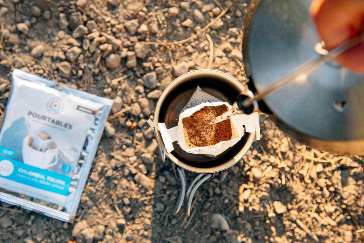 Libra portable pourover coffee for camping