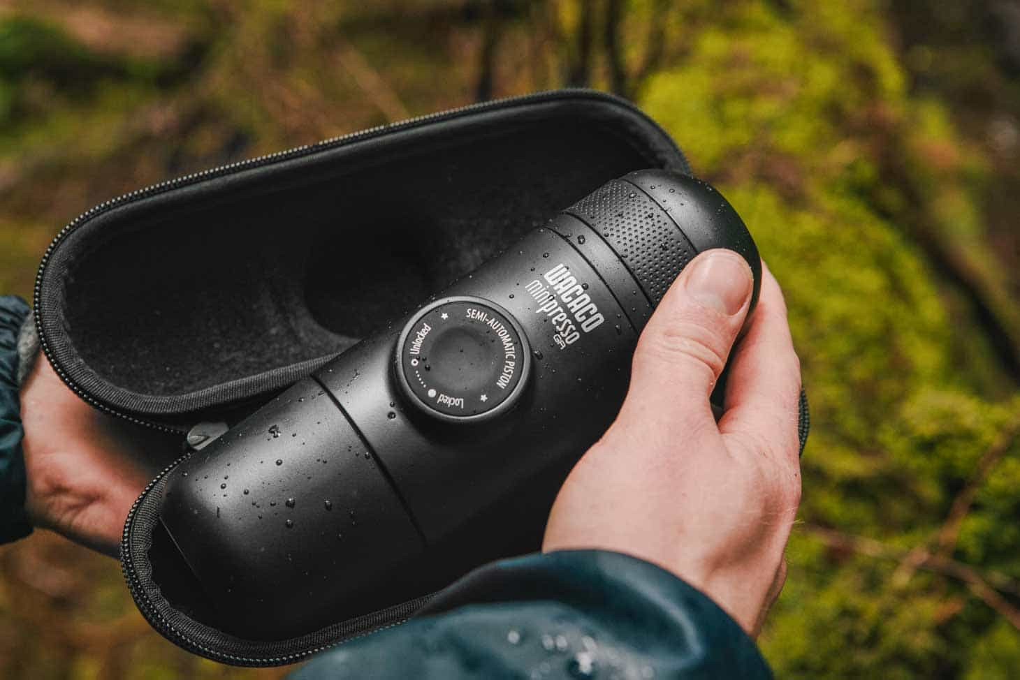 The Wacaco Minipresso - Compact, handheld espresso maker for camping