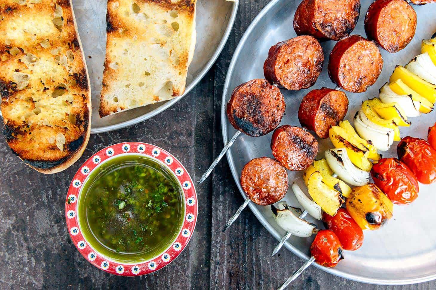 Grilled Chorizo Kebabs Camping Recipe
