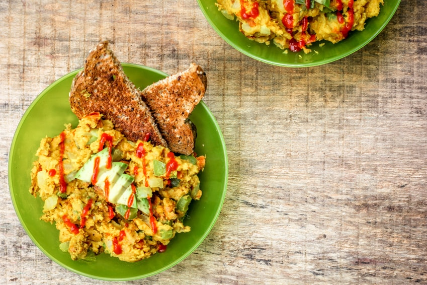 Vegan Breakfast Scramble with Chickpea Flour
