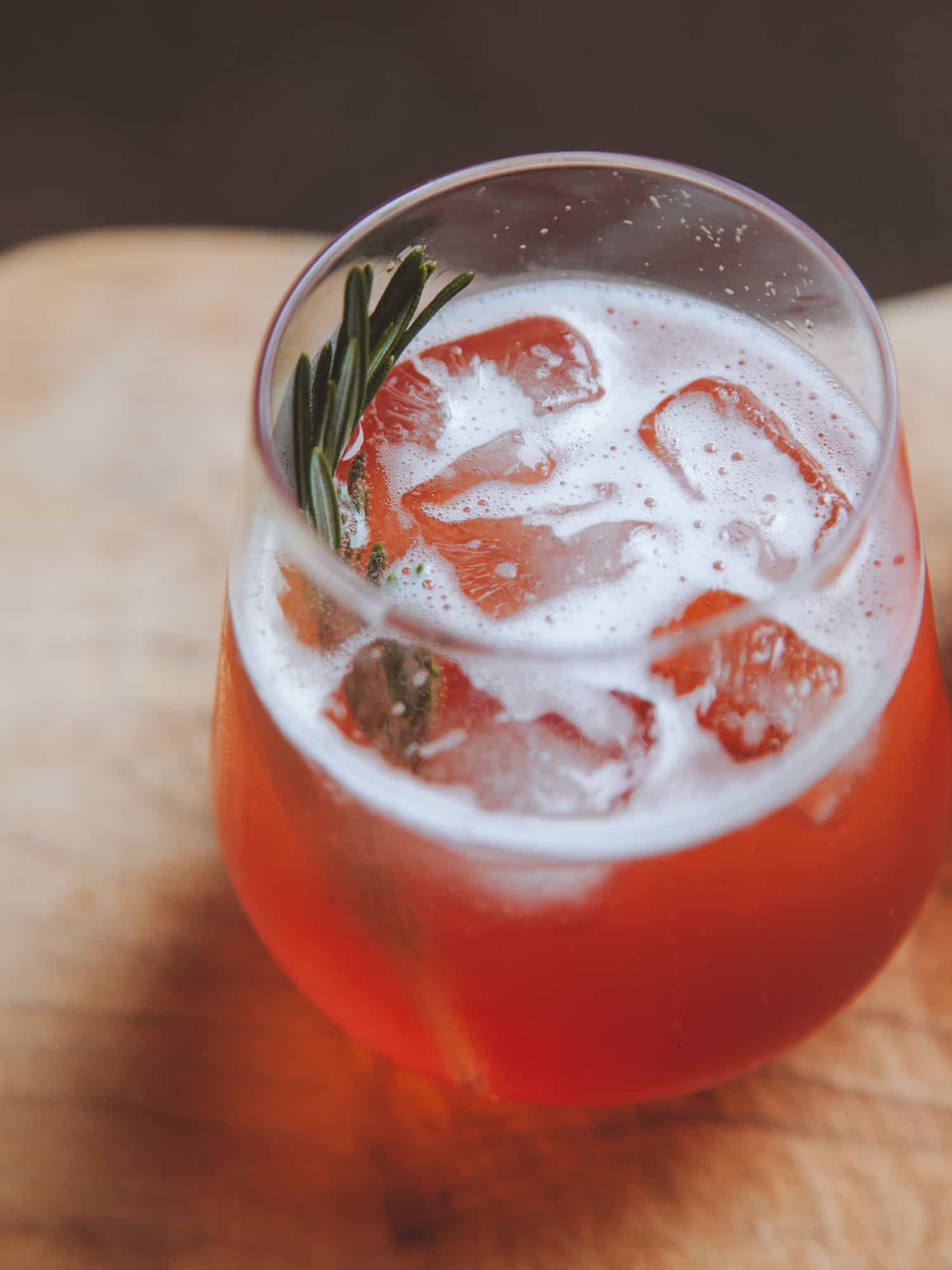 Plum and Rosemary Prosecco Spritz cocktail